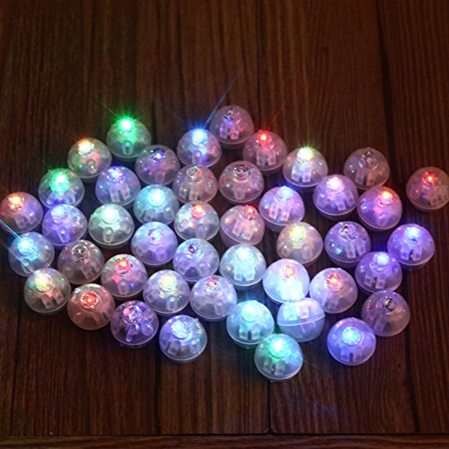 FindFun Small Round Led RGB Flash Ball Lamps Balloon Lights for Balloons Paper Lantern Christmas Wedding Party Decoration(100PCS)
