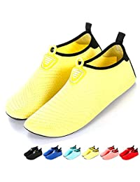 JOYMI Water Shoes Mens Womens Kids Barefoot Quick-Dry Aqua Shoes Unisex Sand Shoes Lightweight Outdoor Sports Skin Socks for Beach Pool Sand Swim Surf Snorkeling Dive Yoga Water Exercise,17 Styles