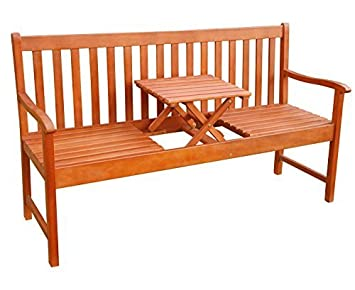 Amazonde Merschbrock Trade Gmbh Gartenbank Mit Tisch