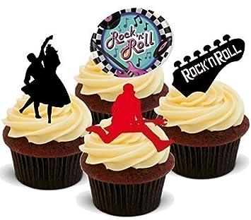 Rock N Roll Mix 50er Jahre 12x Esspapier Cupcake Deko Amazon De