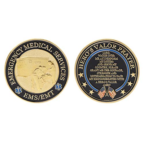 Ladaidra Plated Emergency Medical Services Commemorative Coin Souvenir Challenge Collectible Coins Collection Art Craft Gift