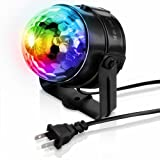 DJ Lights MECO sound activated party lights mini RGB LED crysral magic ball Multi Colored Rotating stage effect light clubs disco light for Home Room Dance Parties