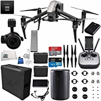 DJI Inspire 2 Premium Combo with Zenmuse X5S and CinemaDNG and Apple ProRes Licenses Videographer 120G Starters Bundle