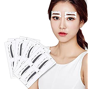 32pairs 4Styles Eyebrow Shaping Stencils Grooming Kit Makeup Shaper Set Template Tool DIY Beauty Tools Eyebrow Sticker for Women Girls and Ladies