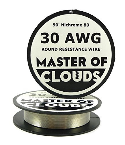 Nichrome 80 - 50 ft 30 Gauge AWG Resistance Wire 0.254mm 30g 50'