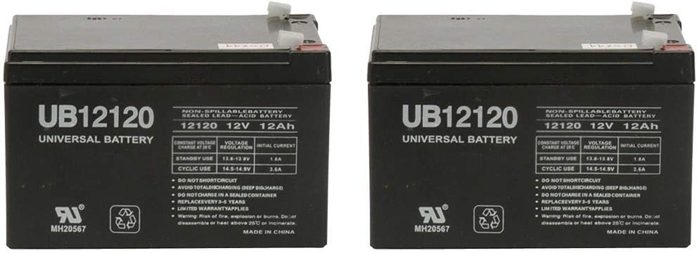 12V 12Ah Replacement Battery for APC Smart-UPS SUA1000US, SUA1000I - 2 Pack 51yh80gNuqL