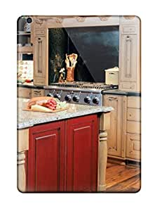 Brand New Air Defender Case For Ipad (lodge-like Kitchen With Pine Cabinetry)
