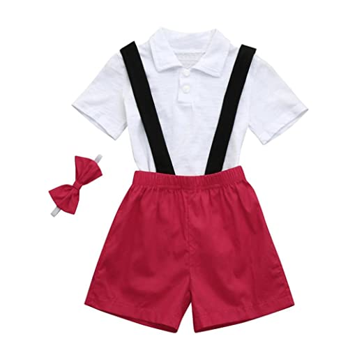 35f5bd9d1 Amazon.com: Lurryly 2019 3Pcs Toddler Baby Girls Boys Outfits T ...