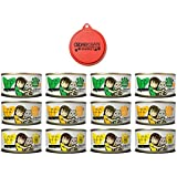 Weruva B.F.F. Best Feline Friends Grain Free Canned Wet Cat Food Variety Pack - 5.5 Ounce - 3 Flavors - Tuna & Salmon, Tuna & Pumpkin, Tuna & Chicken (12 Cans Total) with Can Topper