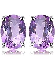 JewelryPalace Trillion Birthstone Örhängen 925 Sterling Silver