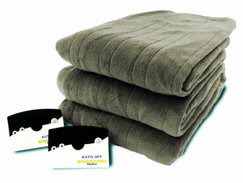 Biddeford 2023-905291-633 Electric Heated Knit MicroPlush Blanket, Queen, Sage (Biddeford Blankets Cord)