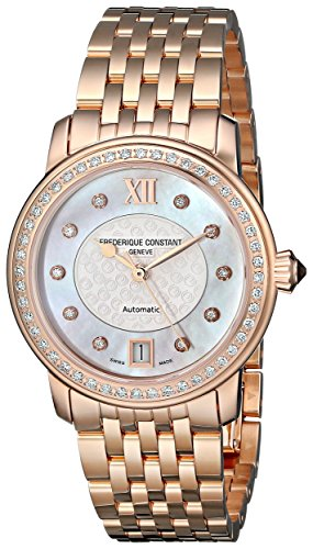 Frederique Constant Women's FC303WHF2PD4B3 Rose Gold-Tone Stainless Steel Watch with Link Bracelet