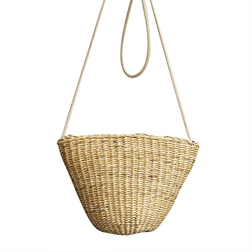 Bolso elegante de la playa de la rota tejida de la forma de la cáscara bolso de las vacaciones de la moda del verano Estilo 4