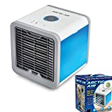 LUCKYYAN Air Portable Air Conditioner - Mini Air Conditioner Fan 3 In 1 USB Air Cooler Personal Air Purifier Humidifier With 7 Colors LED Lights Cooling Desktop Fan For Home Office Bedroom