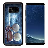 MSD Premium Samsung Galaxy S8 Aluminum Backplate Bumper Snap Case Vintage cinema film projector against a wall IMAGE 24094448