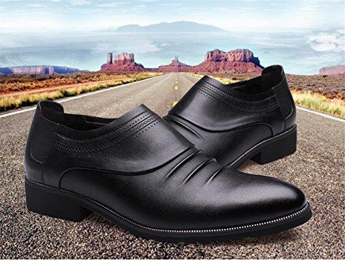 vera pelle pelle Autunno casual Scarpe moda scarpe Inverno pizzo in Black uomini classico Business xqTT8tHIw