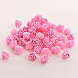 Wingbind 50pcs Mini Roses Artificial Silk Flower Heads Home Wedding Party Decor Decal 66