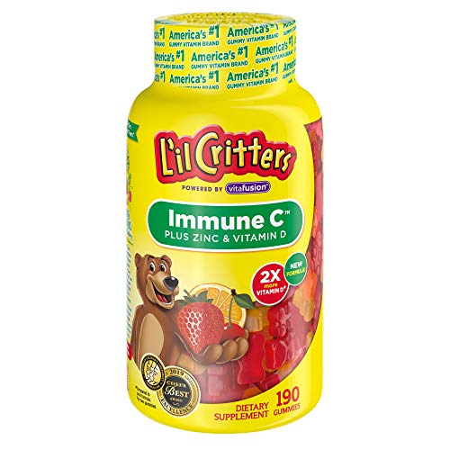 - L'il Critters Immune C Plus Zinc & Vitamin D, 190Count (Packaging May Vary)