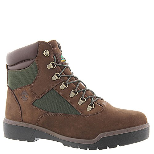 Timberland Mens 6-Inch Waterproof Field Chocolate Old River B (13 D(M) US, Brown/Green) (Timberland Chocolate)