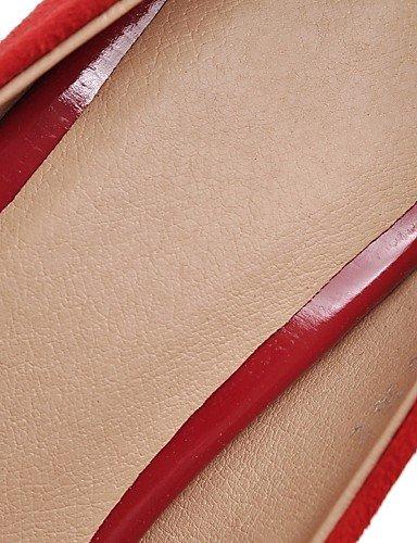 tac exterior Rosso US5 tacones UK3 ® Scarpe mujer negro 5 Rosso n EU35 sint lavoro e ¦ di casual CN36 UK8 ¨ tacones Ufficio ZQ EU42 ¨ stiletto 5 CN43 US10 Nero tico wtxvx