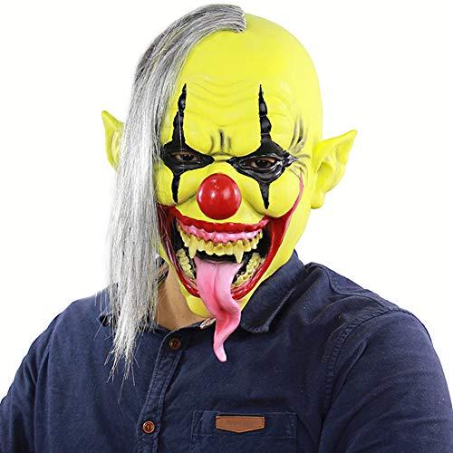 QXYA Devil Clown Mask Evil Clown Mask Latex