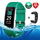 BETIMESYU Fitness Tracker IP68 Waterproof Activity Tracker with Heart Rate Blood Pressure Blood Oxygen Monitor Step Counter Calorie Counter Pedometer Activity Watch for Men Women Kids