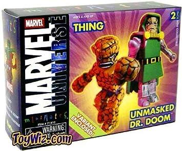 Minimates Marvel Universe Mini Mates Fantastic Four Thing Unmasked ...