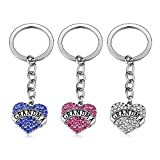 Grandma Gifts 3pcs Keychain Set - Pink Blue Review and Comparison