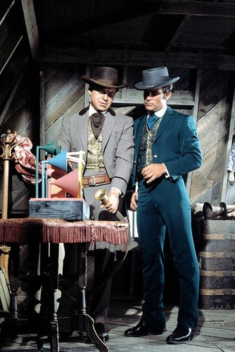 Robert Conrad and Ross Martin in The Unpopulated Wild West 24x36 Poster