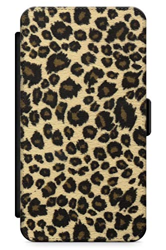 Case Warehouse iPhone 5 Case, iPhone 5s, iPhone SE Rar Leopard Print Brown Phone Case Premium Leather Flip Wallet Card Holder Slots | Leopard Cat Cheetah Nederdel - 5s Cheetah Iphone Charger