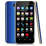 Xgody D24 Unlocked Smartphones 18:9 Android 7.0 Nougat 5.5 Inch 16 GB+1GB HD Screen Quad Core Dual SIM Dual Camera 13MP&8MP for at&T T-Mobile Straight Talk Cell Phones 3G Blue