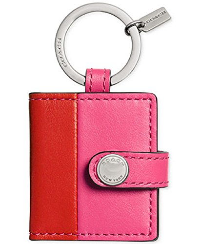 Coach Boxed Snap Picture Frame Key Ring In Colorblock
