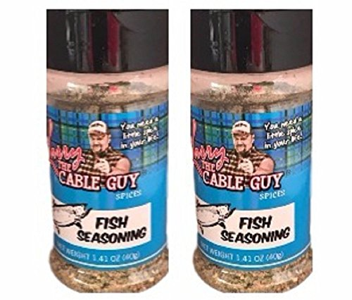 Fish Seasoning Larry the Cable Guy Spices 1.41 Ounce  (Pack of 2)