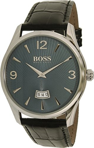 Hugo Boss Men's 1513427 Silver Leather Quartz Watch
