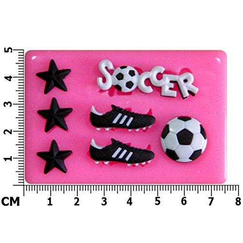 Fußball Silikon Form für Kuchen Dekorieren, Kuchen, kleiner Kuchen Toppers, Zuckerglasur Sugarcraft Werkzeug durch Fairie Blessings