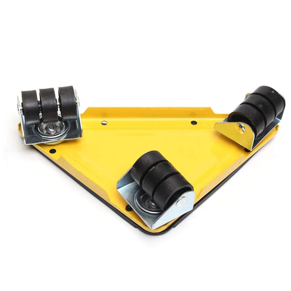 5PCS Furniture Lifter Moves Triple Wheels Mover Sliders Tools Kit Furniture Moving System - Yellow by Anddoa (Image #1)