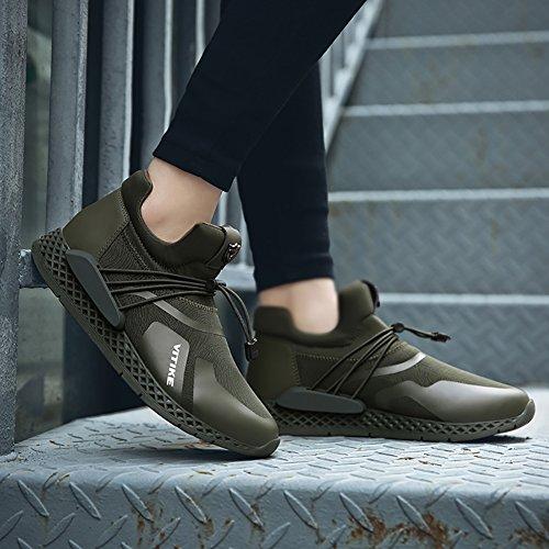 VITIKE Atmungsaktiv Schuhe Schuhe Grün Sport Ausbildung Laufen 1 Turnschuhe Leicht Laufeschuhe Herren Mesh Fitness TnBTrqRx