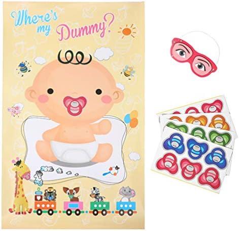 NUOBESTY Stecken Sie Den Friedensstifter auf Den Babyspielbabypartykindergeburtstagsfeierbevorzugungsspielbaby-Plakatspielen Fest