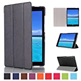ASUS ZenPad S 8.0 Z580C Case, Pasonomi® Ultra-Slim and Ultra-light PU Leather Folio Case Stand Cover With Smart Cover Auto Wake / Sleep Feature for ASUS ZenPad S 8.0 (Z580C, Z580CA) Tablet (Black)