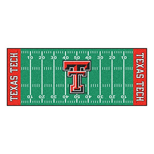 Texas Tech Rug - FANMATS NCAA Texas Tech University Red Raiders Nylon Face Football Field Runner
