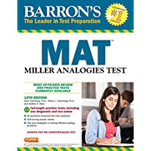 Barron's MAT: Miller Analogies Test