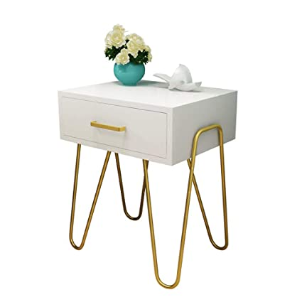 Amazon Com Simple Bedside Table Gold Fashion Chest Of Drawers