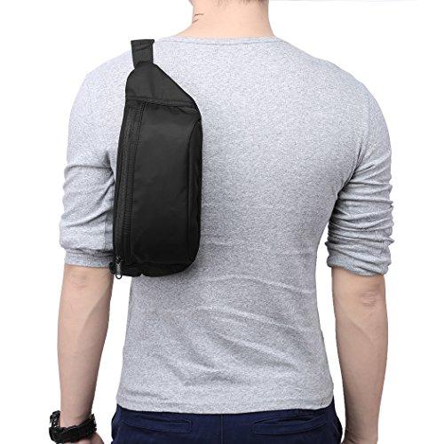 Zipper Black Waist Bum Bag Fanny Pack Travel Pocket - 3