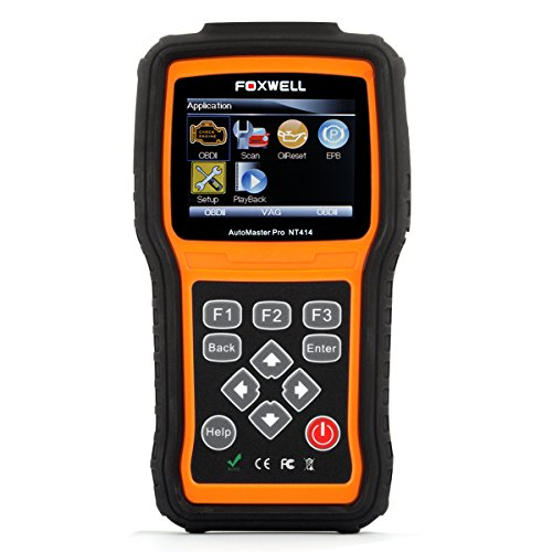 FOXWELL NT414 OBD II/OBD I Scanner Automotive Diagnostic Code Reader Car Engine/ABS/Airbag/Transmission Scan Tool OBD2 Auto Tester with EPB and Oil Light Reset
