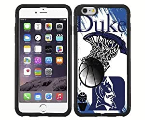 Duke Blue Devils Blue College Basketball Sports RUBBER Snap on Phone Case (iPhone 6)
