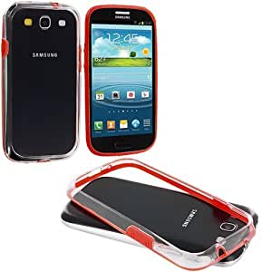 Accessory Planet(TM) Red / Clear TPU Bumper Case Cover Accessory for Samsung Galaxy S III S3