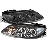 2006 mazda 6 halo rings - For Mazda 6 Smoekd Smoke Dual Halo Ring Projector DRL LED Replacement Headlights w/Built-in Fog Light
