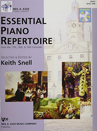 Essential Piano Repertoire - GP451 - Essential Piano Repertoire of the 17th, 18th, & 19th Centuries Level 1