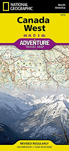Canada West (National Geographic Adventure Map) (Road Map Of Canada compare prices)