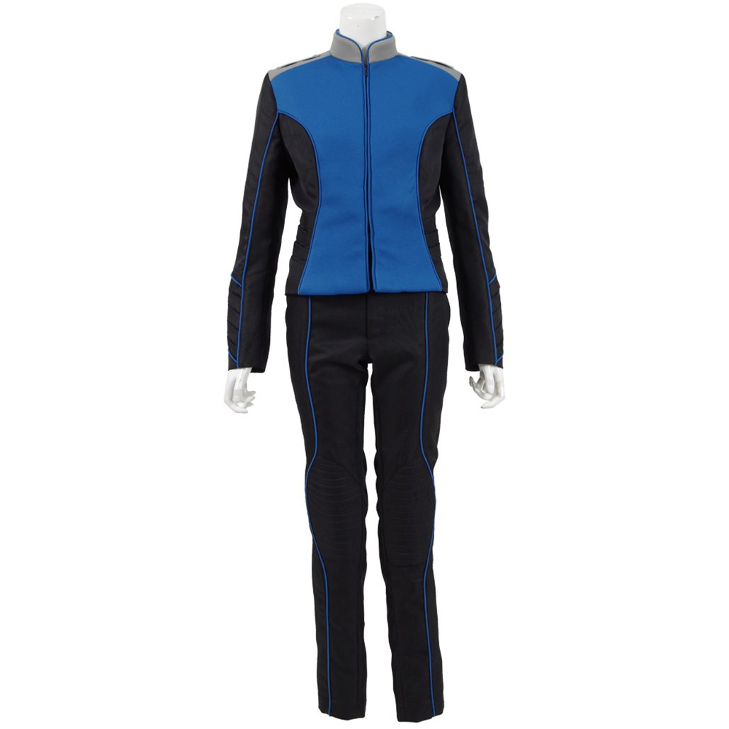 Greed Land Unisex Warship Uniform Cosplay Four Departments Costumes for Cosplayer Party (L, blue women)